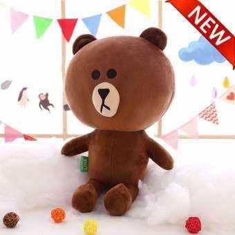 LS ใหม่ผ้าฝ้ายหมีสีน้ำตาลและ Kenny ตุ๊กตากระต่ายคู่ตุ๊กตาตุ๊กตาของเล่นตุ๊กตา, ของขวัญวันเกิด, หมอน, decoration【READY STOCK - คุณภาพสูง】-