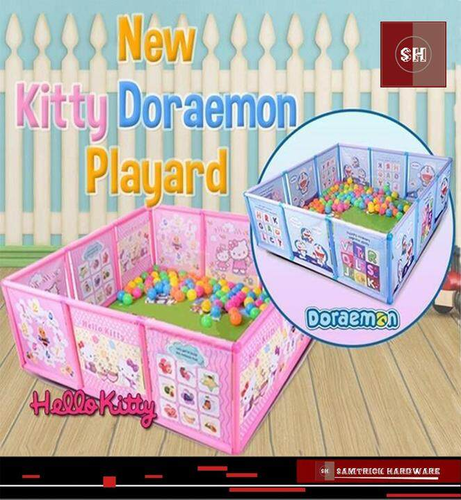 【READY STOCK-KITTY】Kids Cartoon Theme Indoor and Outdoor Portable Playard