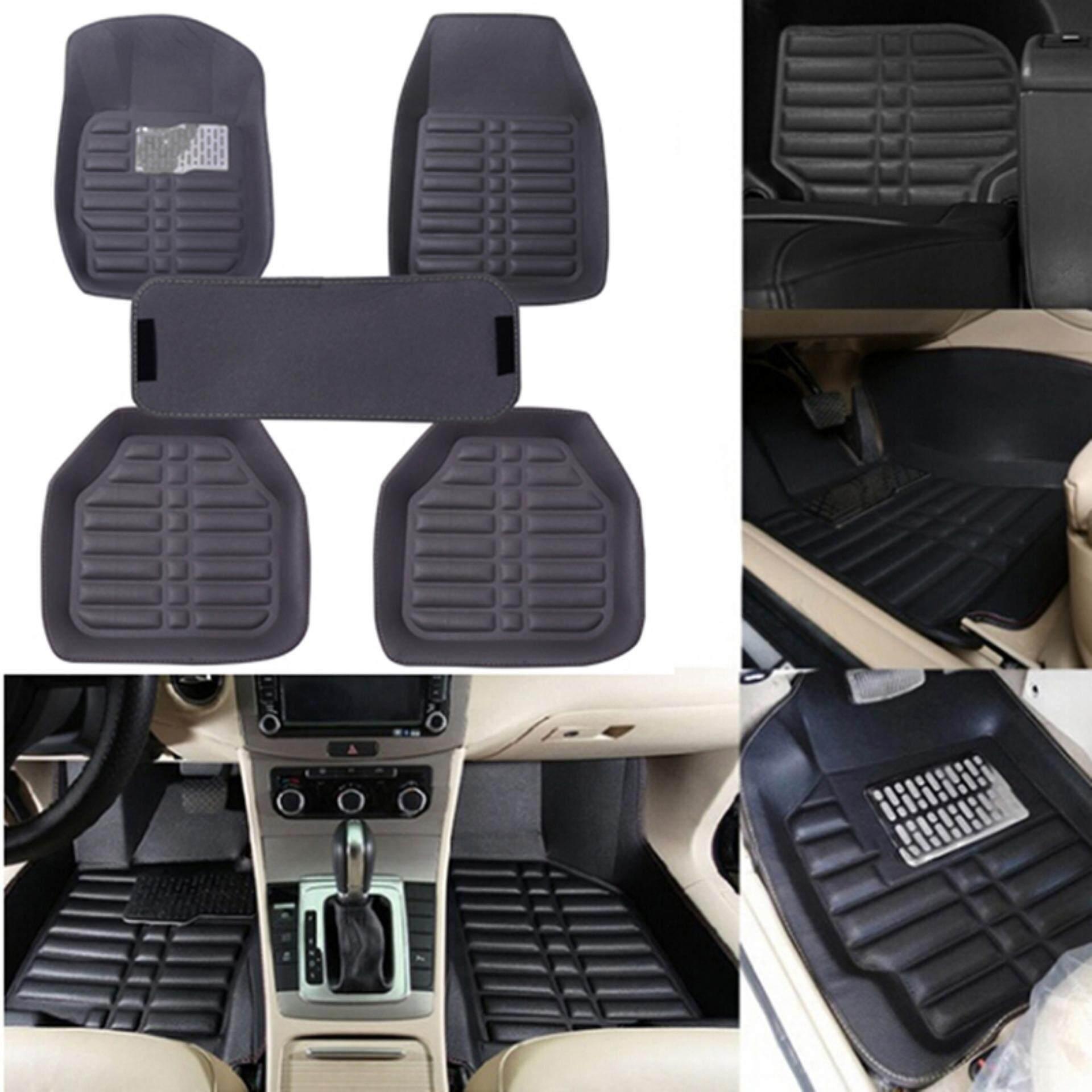 Vegoo 5pcs/set Universal Grey Car Floor Mats Auto Floor Liner Leather Carpet Mat By Vegoo.
