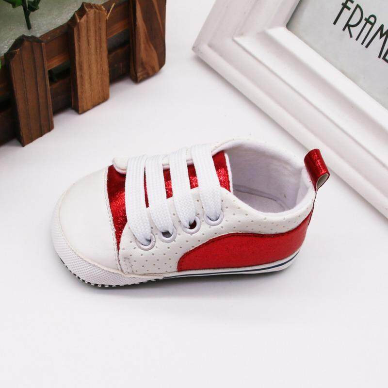 Autumn Baby Boys Girls Patchwork Anti-Slip Shoes Sneakers Toddler Soft Soled First Walkers