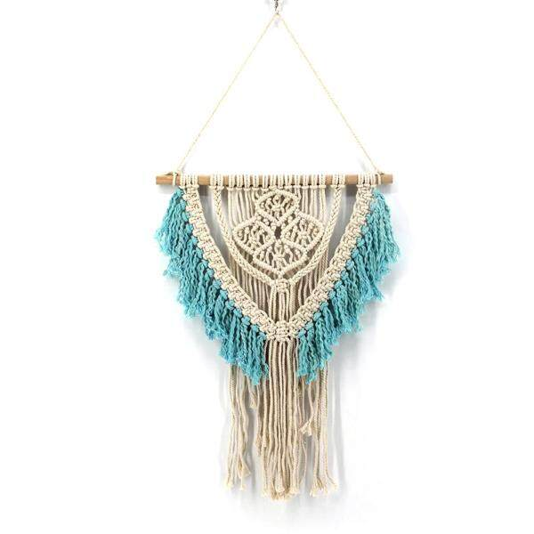 Nordic Household Decoration Pendant Bohemian Hand Knitted Tapestry Innovative Pattern Knitted Cotton Thread Soft Decoration