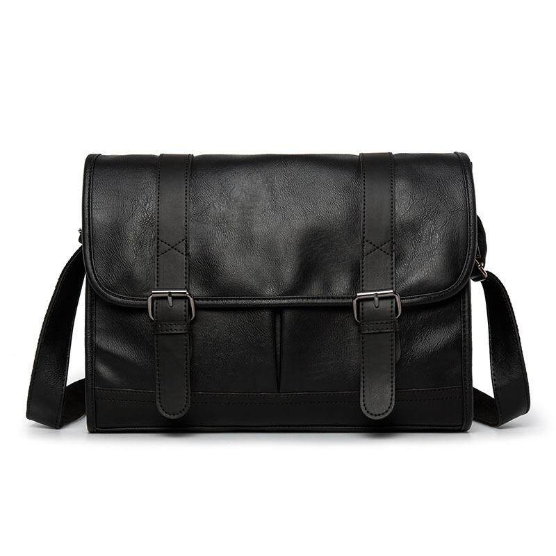 Shoulder Messenger Bag For Men High Quality PU Leather Big Casual Chest Bags