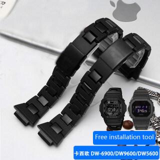 Watchband Thay Thế Dây Cho Casio G-SHOCK DW-6900 DW5600 Dòng Nhựa Dây Đeo Đồng Hồ Không Gỉ Khóa Thép thumbnail