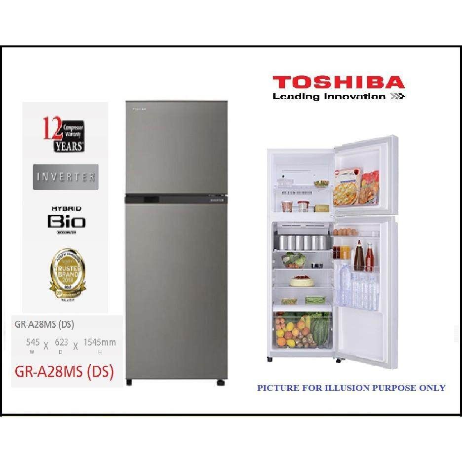 TOSHIBA 280L 2DOOR INVERTER FRIDGE GR-A28MS (DS)