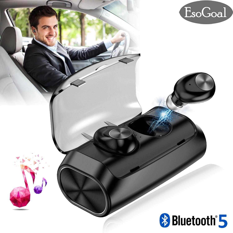 EsoGoal Nirkabel Olahraga Earbuds Earphones Sweatproof Waterproof Headsets Bluetooth 5.0 Headsets Mini Invisible Earpiece True Headphone