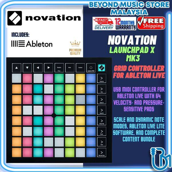 Novation Launchpad X Grid Controller Midi USB Controller With Ableton Live (Launch Pad X) Malaysia