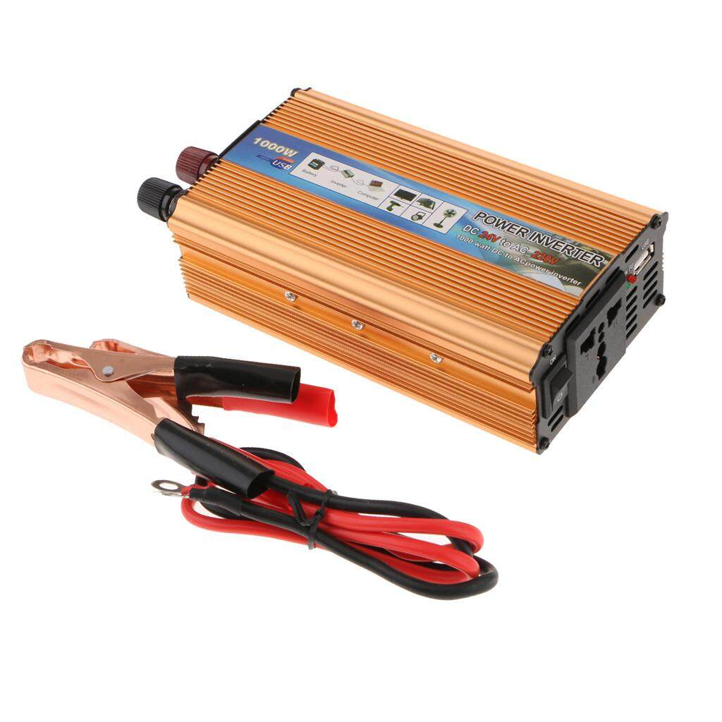 Blesiya Car Converter 1000W Power Inverter DC 24V AC 220V USB Port Charger Generator