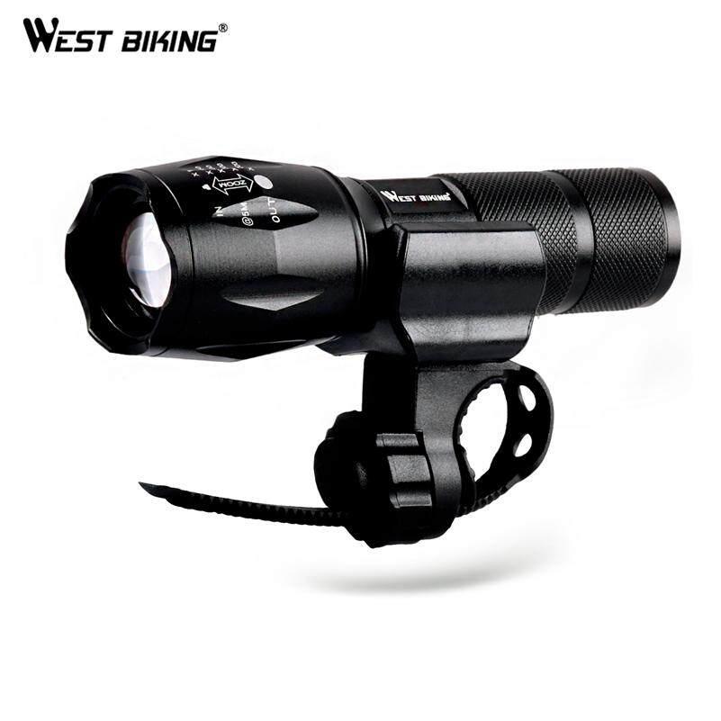 West Biking 4000 Lumens T6 LED ไฟจักรยาน Zoomable ไฟติดจักรยานไฟฉายด้านหน้าไฟหน้าจักรยานโคมไฟ ไฟฉาย