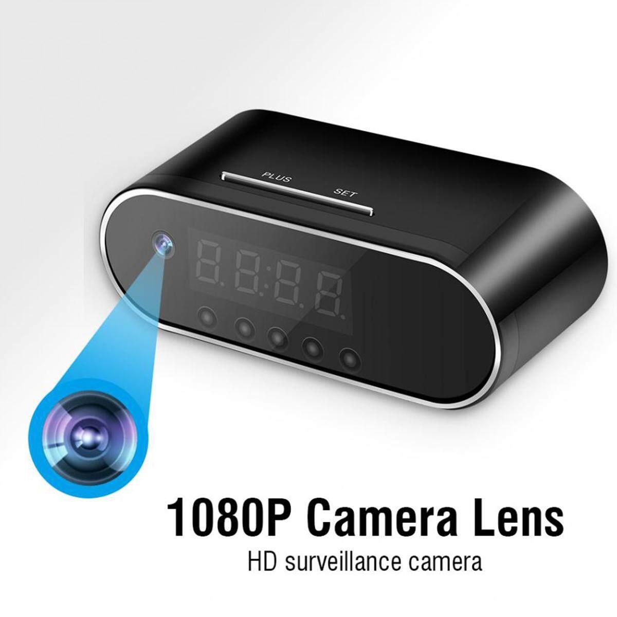 Mới 1080 p HD Đồng Hồ Camera Ẩn WIFI Điều Khiển Che Khuyết Điểm HỒNG NGOẠI Xem Đêm Báo Động Đồng Hồ Kỹ Thuật Số Video Camera Mini DV ĐẦU GHI HÌNH Camera Nhật Bản