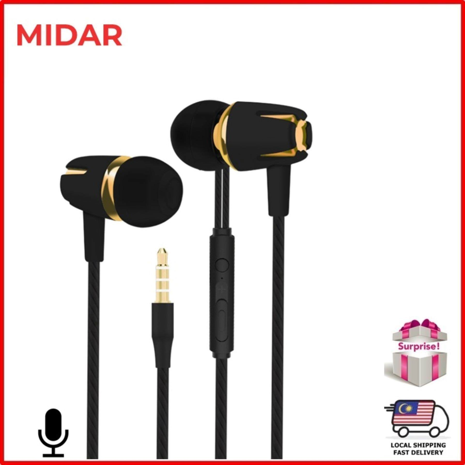 d7a8cc370ffb54 MIDAR Raya 2019 Stereo In-ear Earphone with Microphone Headphone Earphones  Earbuds Volume Control 3.5