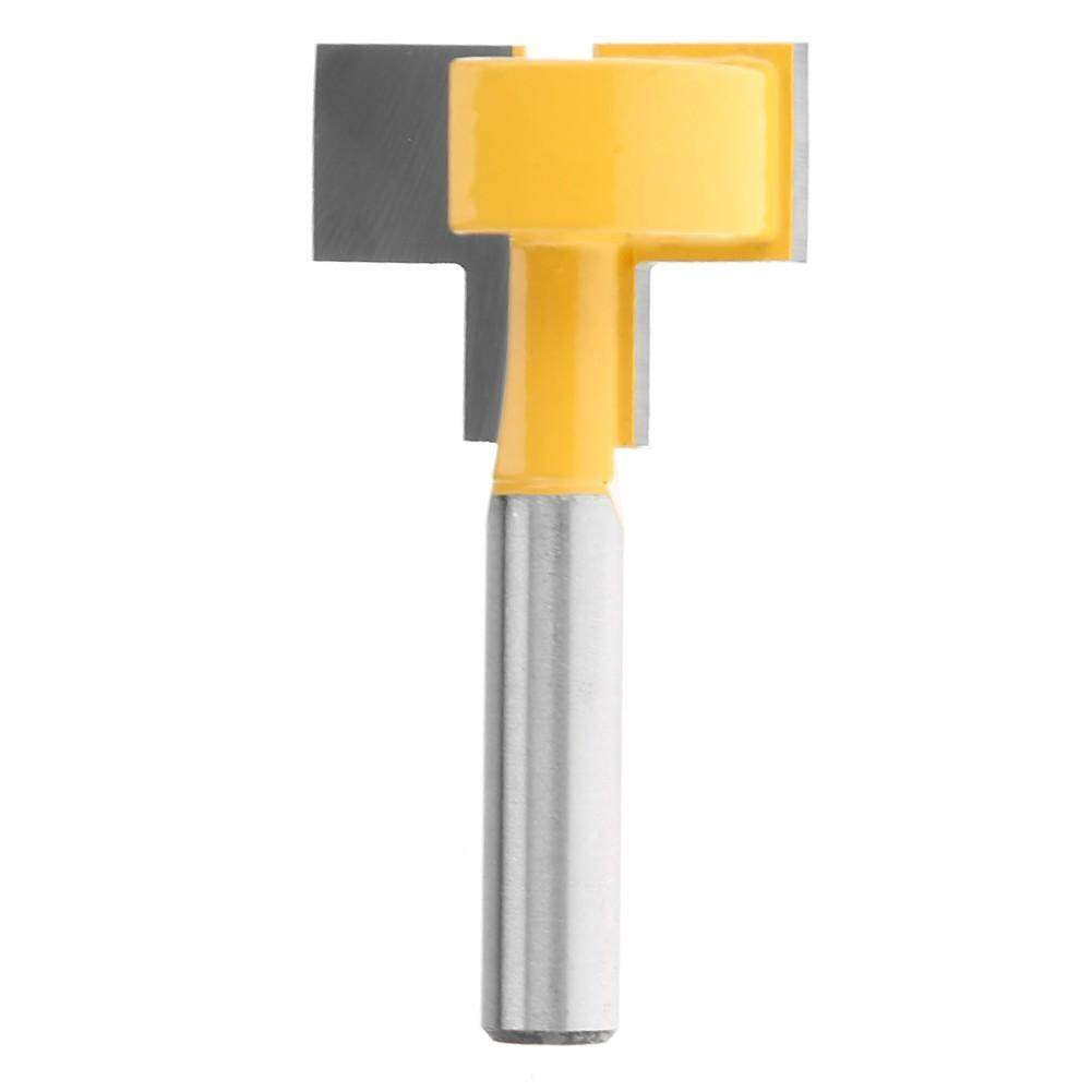 8mm Shank Router Bit T-Type Slotted Milling Cutter Carbide Woodworking Tool