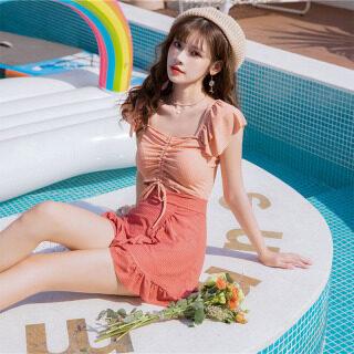 Đồ Bơi Một Mảnh Celmia Chân Váy Kỳ Nghỉ Nhún Bèo Cảm Giác Cho Nữ Bộ Đồ Bơi Bảo Thủ Che Da Thịt Quần Đùi Boxer, Mùa Xuân Nóng Bỏng thumbnail