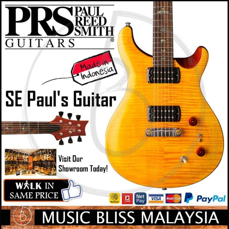 PRS SE Pauls Electric Guitar with Bag - Amber (Made in Indonesia) Malaysia