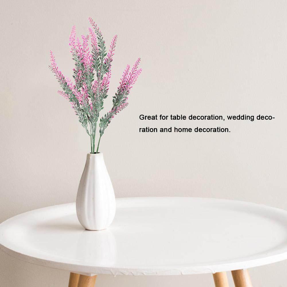 HomeH Mall 25 Kepala Pernikahan Bunga Lavender Buatan Palsu Buket Bunga Pengantin Dekorasi Pesta Rumahan