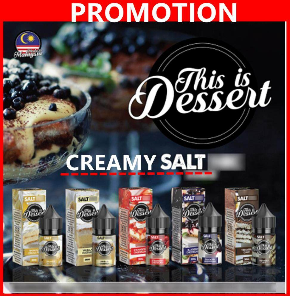 (Creamy Salt) 35/ 50 This Is Dessert 30ML Pod S8 Rincoe Minifit Ready Stock Ejuice Malaysia