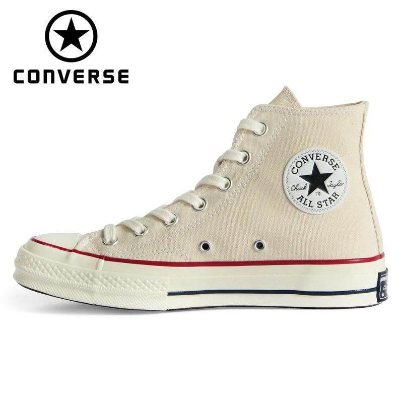 ยี่ห้อนี้ดีไหม  ร้อยเอ็ด CHUCK 70 Original Converse_1970S all star shoes Beige high men and women s unisex sneakers Skateboarding Shoes 162062C