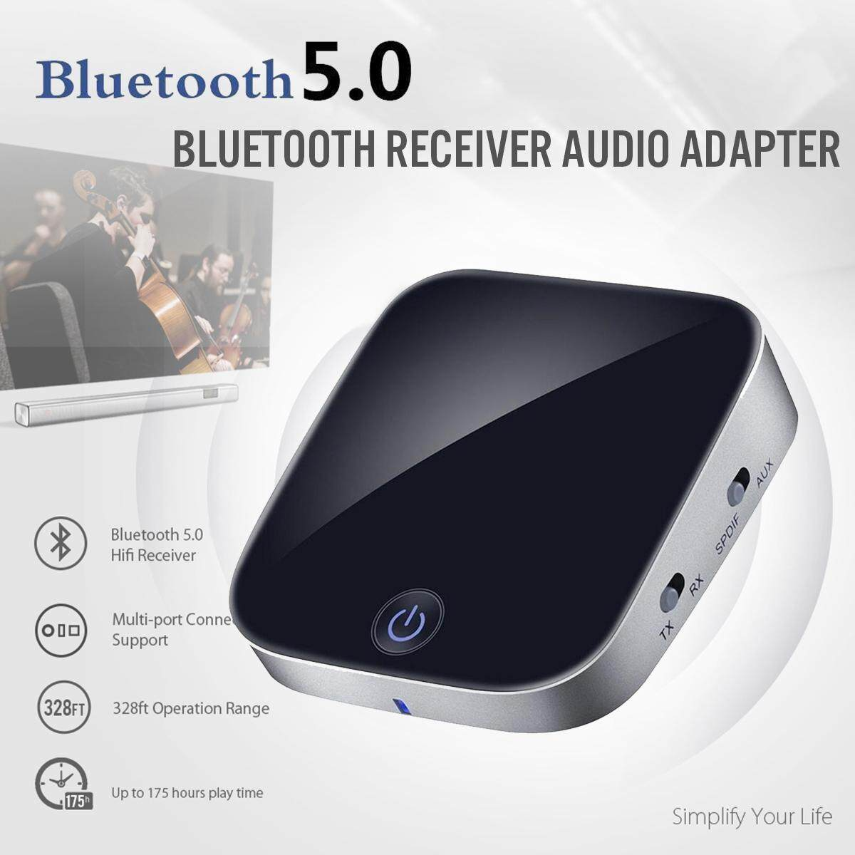 V 5.0 Wireless Bluetooth Receiver Audio Adapter With 3.5mm Transmitter RCA