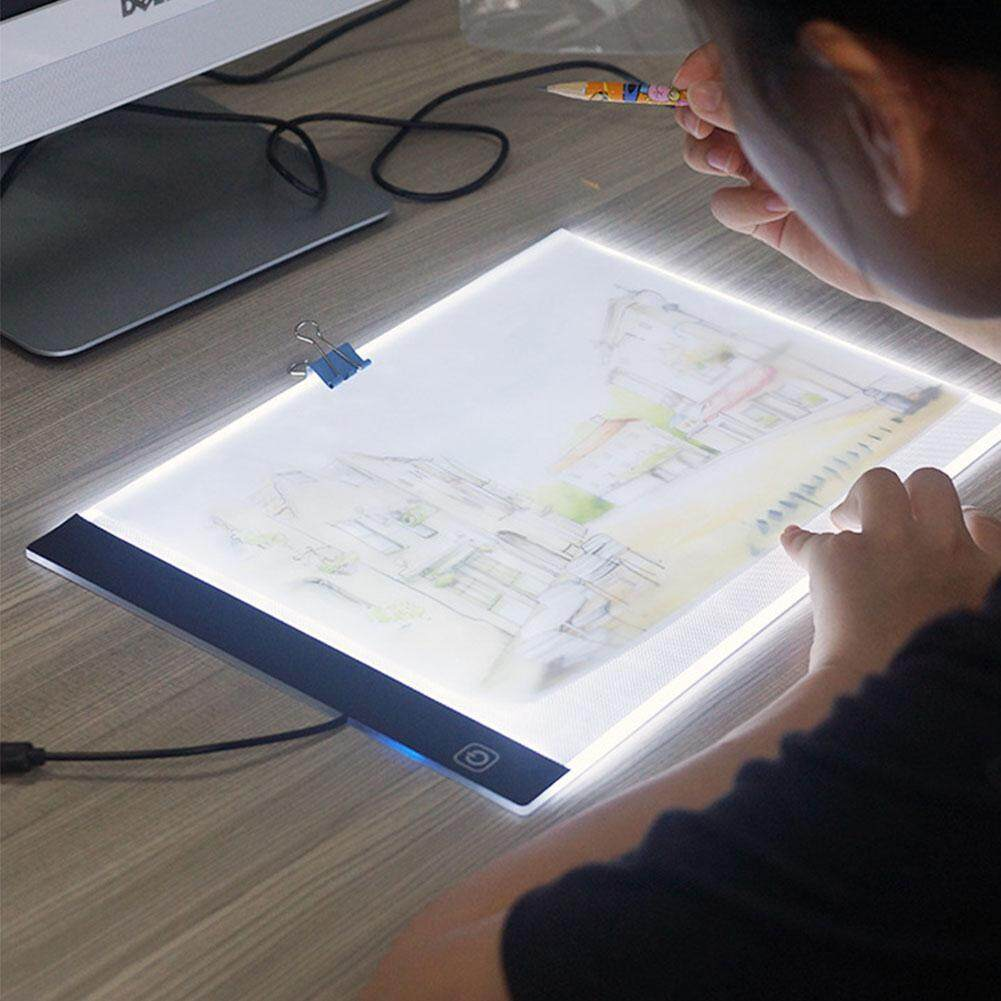 A4 LED Artist Stencil Drawing Tablet Board Three Level Light Tracing Table Pad Arts Digital Drawing Board Diamond Painting Pad Singapore