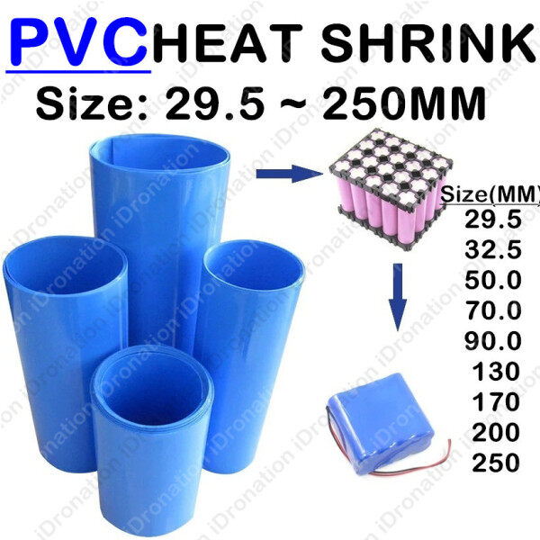 【29.5MM ~ 450MM】Blue PVC Heat Shrink Insulation Tubing Tube Wrap Wire Battery Pack Lithium Sleeve Shrinkable 2:1