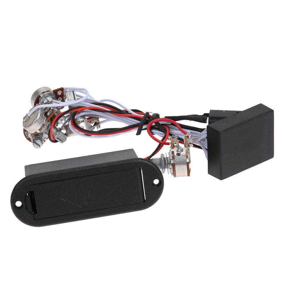 9 V Power Supply 3 Ban EQ Equalizer Preamp Sirkuit untuk Pickup Bass Aktif