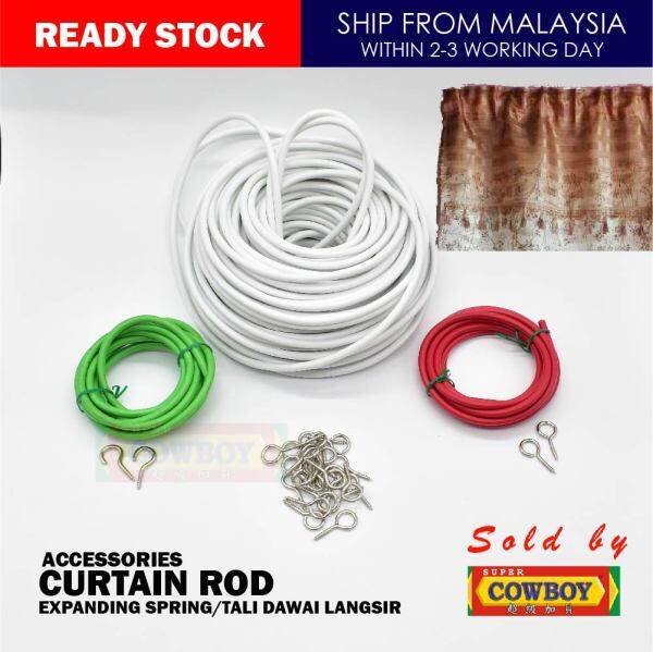 Aksesori Langsir Kampung / Old Style Curtain Rod , Screw Hook / Curtain Accessories Rod 4.5FT 6FT 100FT