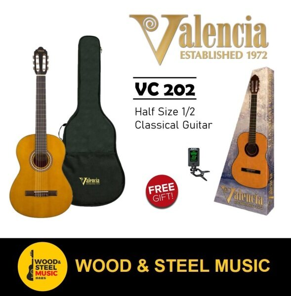 Valencia VC202 1/4 Classical Guitar for beginner (best student model) come with bag and Tuner Malaysia