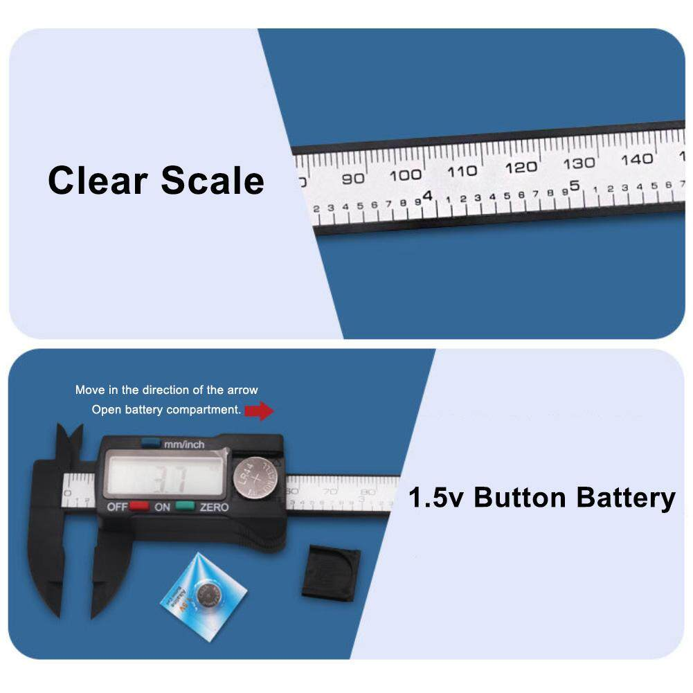 CNM Digital Display Sliding 0-150mm Measurement Pocket Vernier Caliper Ruler Tool