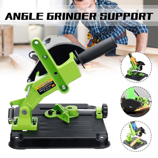 100/115mm Angle Grinder Cutting Stand 0-45° Swing Aluminum Bracket Iron Base Angle Grinder Holder Support