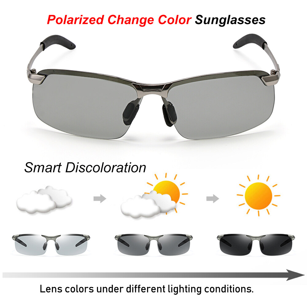 Glasses Men Polarized Sunglasses Tr Frame Drive Sports UV Protection Sunglasses Color : 03Black, Size : Free