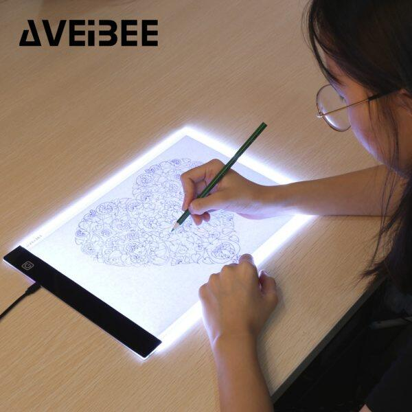 Original Digital Tablets A4 Led Graphic Artist Thin Art Stencil Drawing Board Light Box Tracing Table Pad Three-Level For Copy