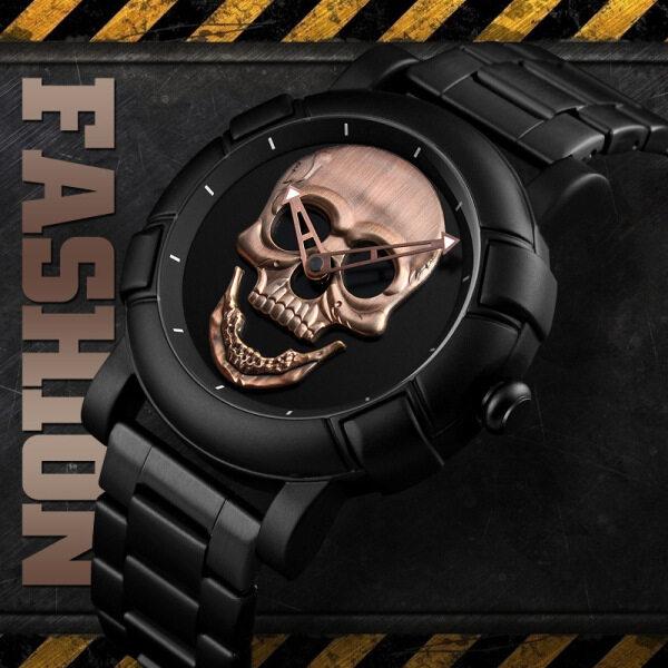 3D Skull Military Watch Top Brand Luxury Mens Watches Fashion Sport Quartz Watch Men Full Steel Malaysia