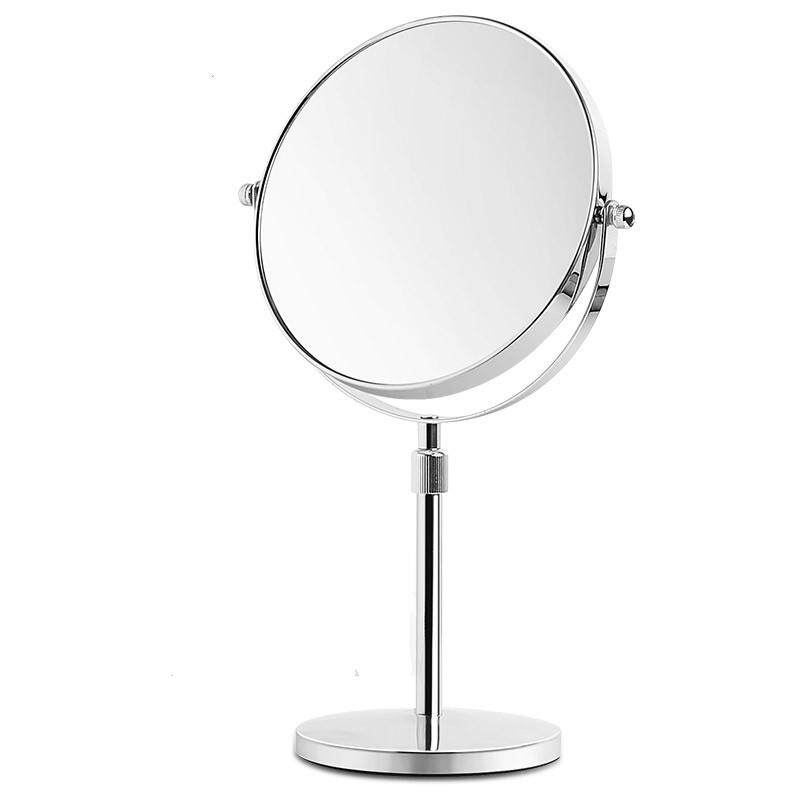 8-inch Double-sided Makeup Mirror 3 Times Magnification Silver Desktop Vanity Mirror