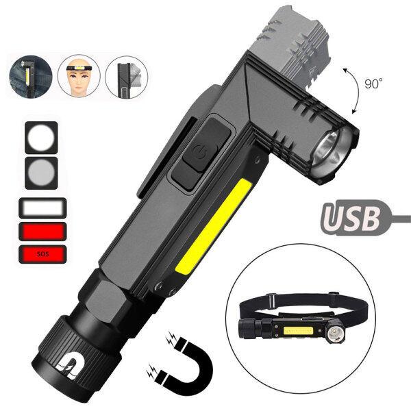 Bảng giá [5 Chế Độ] Đèn Pin Sạc USB 90 ° Chính Hãng Đèn LED Cob XPG Đèn Trắng Đèn Đỏ Thích Hợp Cho Công Việc Ngoài Trời Ban Đêm Leo Núi Câu Cá Cắm Trại Hoạt Động Ngoài Trời V. V.