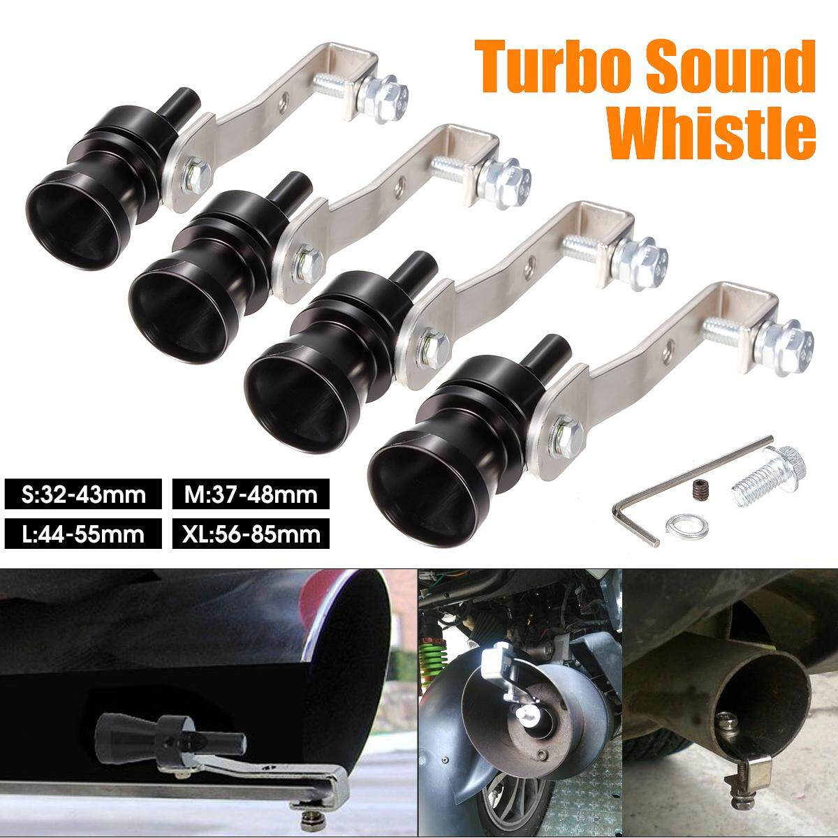 Universal small Purple Turbo Sound Exhaust Whistle Blow off Valve Simulator S