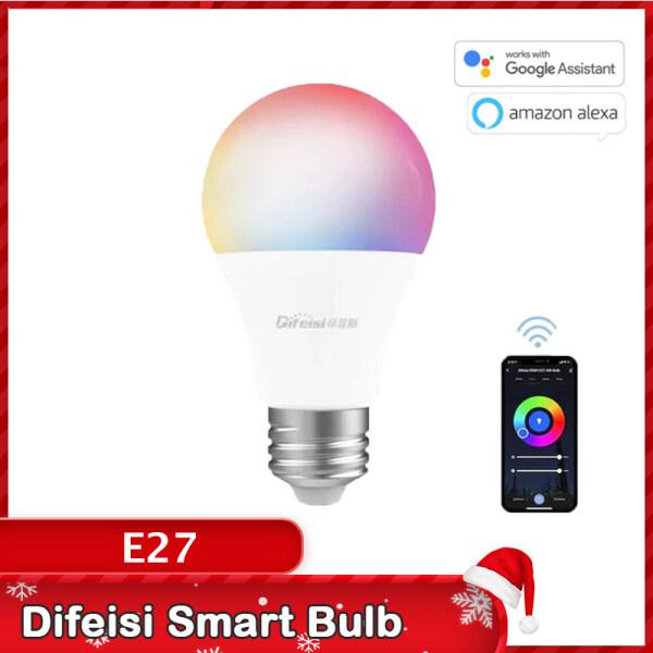Bóng Đèn LED Thông Minh Difeisi, Thông Minh Colorfu Đèn, 810 Lumens E27 Cho Google Assistant Và Alexa [Ứng Dụng Tuya]