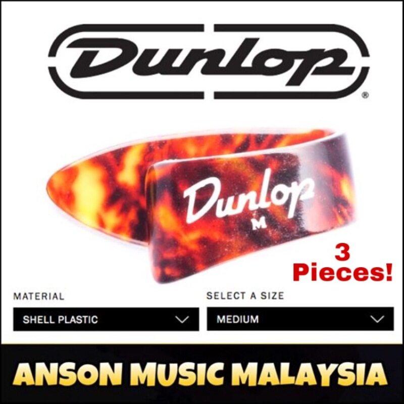 Jim Dunlop Shell Thumb Pick, Shell Plastic, Medium, 3 Pieces Malaysia