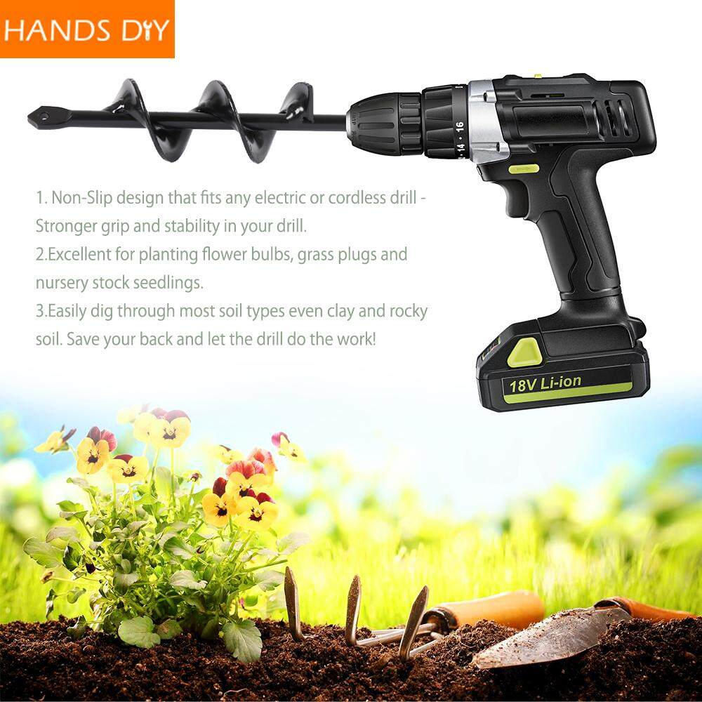 HANDDIY Yard Butler Roto Digger 9 Inch Garden Auger Drill Bit Planting Irrigation Weeding Steel Tool for Electric Hammer and Water Borer