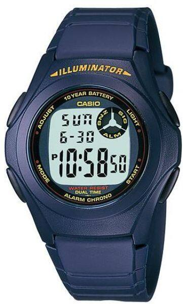 GET IT NOW! Casio F-200W-2B Youth Series Dual Time Digital Watch Malaysia