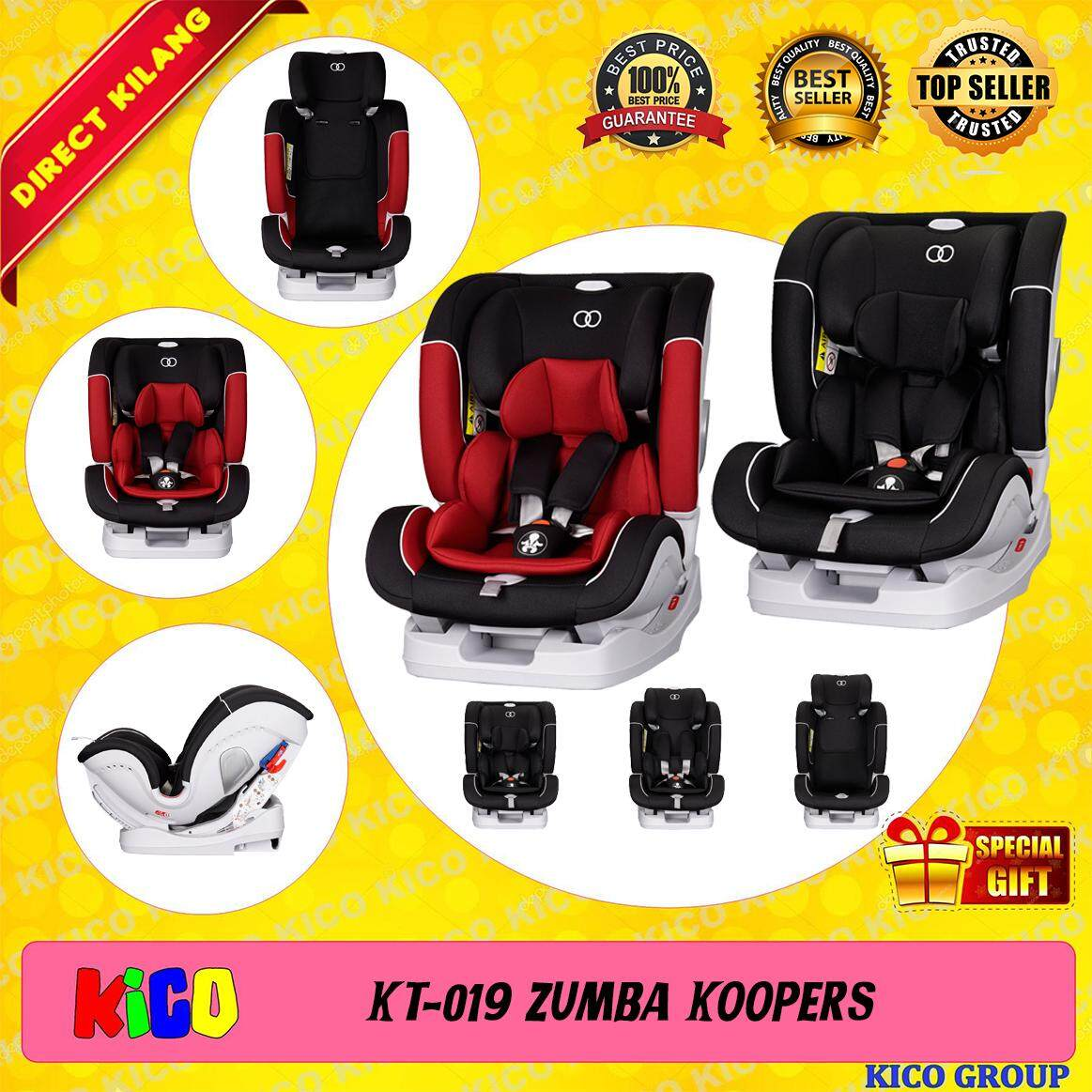 ⚡ SPECIAL FREE GIFT ⚡ Koopers Zumba Carseat Suitable for newborn up to 36kg With 6 Years Koopers Official Warranty, ECE Certified [FREE SHIPPING]