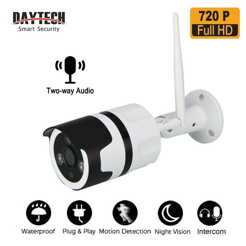 DAYTECH Outdoor IP Camera CCTV 720P/1080P HD WiFi Wireless Surveillance  Network Security Camera Waterproof Two Way Audio Night Vision(DT-H03)