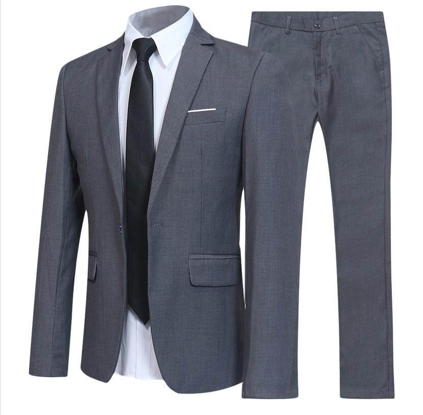 5b53545754331 2019 Groom Tuxedos High Guality Men Suits For Wedding Business Formal Men  SuitsGroomsmen Wear (Jacket+Pants) Plus Size S-5XL