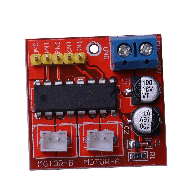 2.5A dual motor drive module positive and negative PWM speed control double H bridge stepper motor drive board super L298N