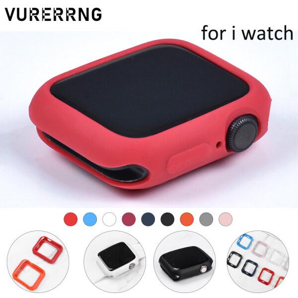Ốp Bảo Vệ Bằng Silicon Mềm Mới 2021 Cho Apple Watch SE 6 5 4 3 2 1 Series 38MM 42MM Cho Tôi Xem Ốp Lưng Nhiều Màu 44MM 40MM