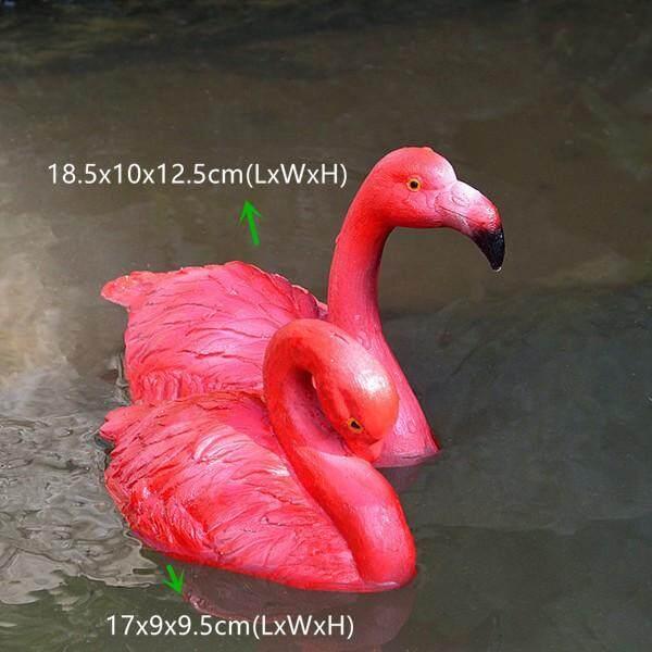 2 cái/lốc Vườn Ngoài Trời Nổi Vịt Cỏ Bể Động Vật Thủ Công AO Vật Trang Trí Nhựa Hạc Thu Nhỏ Các Bức Tượng Nhỏ Trang Trí