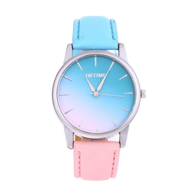 〔MyHomever〕Women Casual Candy Color Leather Belt Quartz 2-Color Strap Student Watch Malaysia