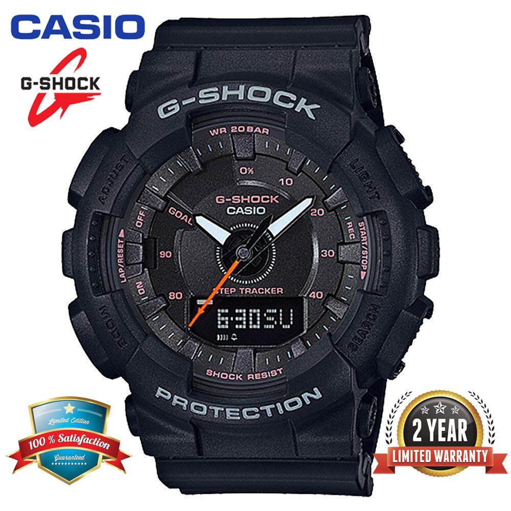 (Ready Stock)Original Casio G Shock_GMA-S130-1APR Women Sport Digital Watch Duo W/Time 200M Water Resistant Shockproof and Waterproof World Time LED Light Girl Wist Sports Step Reminder Watches with 2 Year Warranty GMA130/GMA-130 Black Malaysia