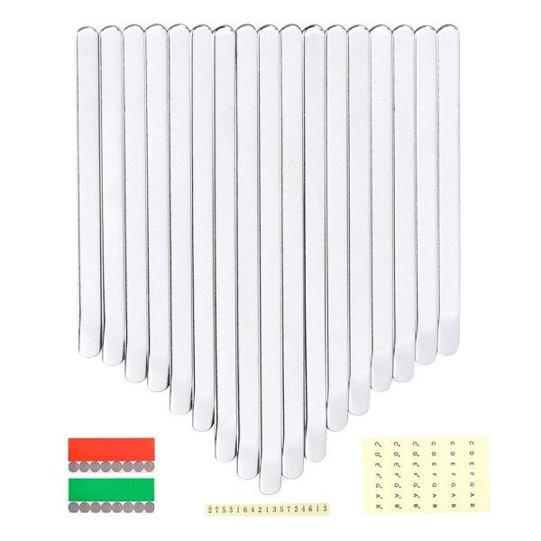 LINGTING Kalimba 17 Keys Thumb Piano Keys Replacement Kit Manganese Steel with Stickers for 17 Key B/C Major Finger Piano Malaysia
