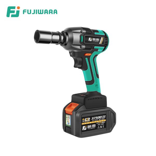FUJIWARA 320N.M Torque Electric Wrench 37500mAH Rechargeable Impact Wrench Driver Spanner Without Carbon Brush Power Tools