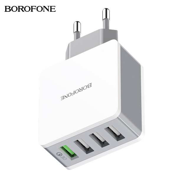 HOCO Borofone BA43A EU Plug Quick Charger 3.0 USB Wall Charger  18W 4 USB Ports Fast Charger for Samsung Huawei Xiaomi OPPO