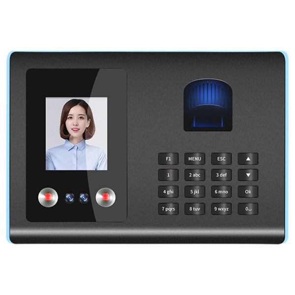 Intelligent Attendance Machine Face Fingerprint Password Recognition Time Clock for Employees Timeclocks